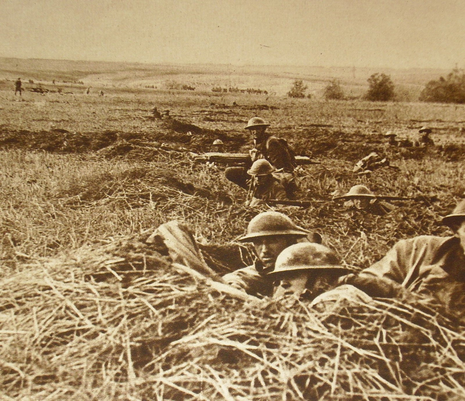 American troops in the field during World War I