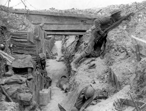 Cheshire Regiment trench near La Boiselle, July 1916